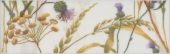Бордюр Астория Птицы белый обрезной 25*8