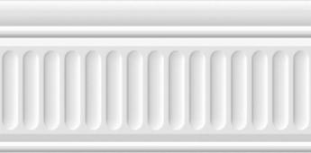 Бордюр Бланше белый структурированный 20*9,9