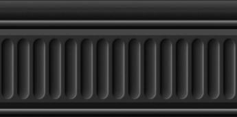 Бордюр Бланше черный структурированный 20*9,9