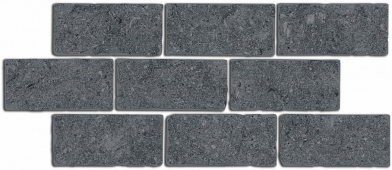 Бордюр Роверелла серый темный мозаичный 34,5*14,7