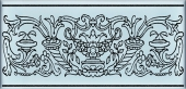 Декор Авеллино голубой 7,4*15