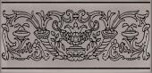 Декор Авеллино коричневый 7,4*15