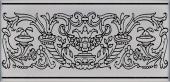 Декор Авеллино серый 7,4*15