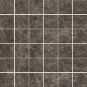 Декор Мерджеллина коричневый темный мозаичный полотно 30,1*30,1