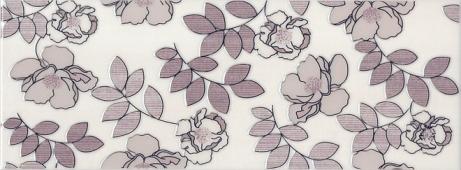 Декор Ньюпорт Цветы фиолетовый 15*40