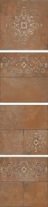 Каменный остров коричневый декорированный 30*30