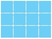 Конфетти голубой (матовый), полотно 30*40 из 12 частей 9,9*9,9