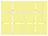 Конфетти желтый (матовый), полотно 30*40 из 12 частей 9,9*9,9