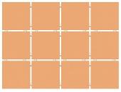 Конфетти оранжевый (матовый), полотно 30*40 из 12 частей 9,9*9,9