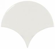 Плитка настенная SCALE Fan White 10,6х12 см