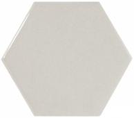 Плитка настенная SCALE Hexagon Light Grey 12,4х10,7 см