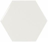 Плитка настенная SCALE Hexagon White 12,4х10,7 см