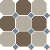 Керамогранит 4401+29 OCT 11-A Beige 01 Coffe Brown 29 OCTAGON / Blue Cobalt 11 Dots