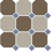 Керамогранит 4429+01 OCT11-B Coffe Brown 29 Beige 01 OCTAGON/Blue Cobalt 11 Dots 30x30 см