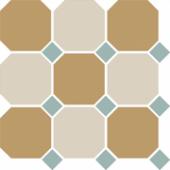 Керамогранит 4403+16 OCT13-A Yellow 03 White 16 OCTAGON / Turquoise 13 Dots 30х30 см