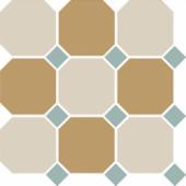 Керамогранит 4403+16 OCT13 B White 16 Yellow 03 OCTAGON / Turquoise 13 Dots 30х30 см