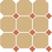 Керамогранит 4403 OCT04-1Ch Yellow OCTAGON 03 / Caramel Dots 04 30x30 см