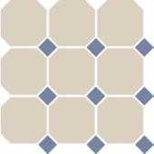 Керамогранит 4416 OCT11-1Ch White OCTAGON 16/Blue Cobait Dots 11 30x30 см