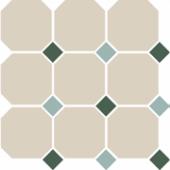 Керамогранит 4416 OCT18+13-B White OCTAGON 16/Green 18 + Turquoise 13 Dots 30х30 см
