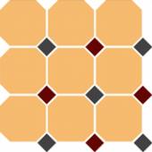 Керамогранит 4421 OCT14+20-A Ochre Yellow OCTAGON 21/Black 14 + Brick Red 20 Dots 30x30