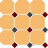Керамогранит 4421 OCT20+14-B Ochre Yellow OCTAGON 21/Brick Red 20 + Black 14 Dots 30x30
