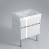 Тумба BUONGIORNO напольная для раковины 60 см с 2 ящиками, белая
