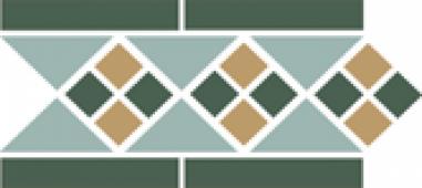 Бордюр Border LISBON with 1 strip (Tr.13, Dots 18+03, Strips 18) 28х15 см