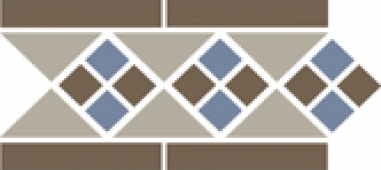 Бордюр Border LISBON with 1 strip (Tr.01, Dots 29+11, Strips 29) 28х15 см