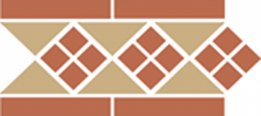 Бордюр керамический Border LISBON-1 with 1 strip (Tr.16, Dots 11, Strips 11) 28х15 см