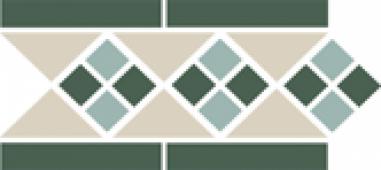 Бордюр Border LISBON with 1 strip (Tr.16, Dots 13+18, Strips 18) 28х15 см