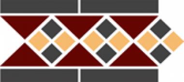 Бордюр Border LISBON with 1 strip (Tr.20, Dots 14+21, Strips 14) 28х15 см