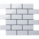 Керамическая мозаика Brick White Glossy (A1001G) 288х294х6