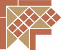 Corner LISBON-1 with 1 strip (Tr.03, Dots 04, Strips 04) 21,5х21,5 см