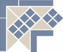Corner LISBON with 1 strip (Tr.16, Dots 11, Strips 11) 21,5х21,5х15