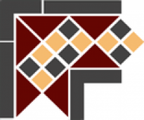 Угол керамический Corner LISBON with 1 strip (Tr.20, Dots 14+21, Strips 14)  21,5х21,5 см