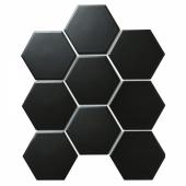 Керамическая мозаика Hexagon big Black Matt (SBH4810) 256х295х6