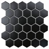 Керамическая мозаикаHexagon small Black Matt (IDL4810) 272х282х6