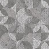 Фондамента серый декорированный обрезной 60*60