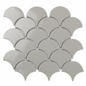 Керамическая мозаика Fan Shape Light Grey Glossy (BF1912) 293х274х6