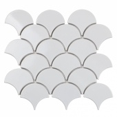 Керамическая мозаика Fan Shape White Glossy (BF1911) 293х274х6
