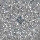 Терраццо серый тёмный декорированный обрезной 60*60