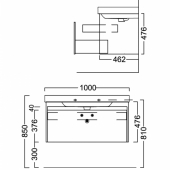 Тумба BUONGIORNO подвесная для раковины 80 см с 1 выдвижным ящиком + 1 внутренний ящик, белая