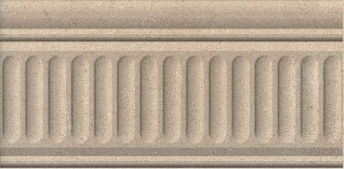 бордюр золотой пляж тёмный беж структурированный 20*9,9 KERAMA MARAZZI 190223F