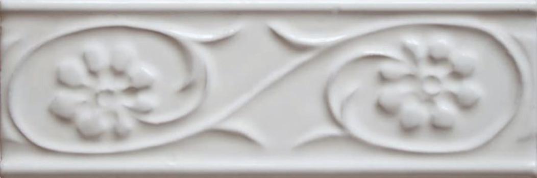 бордюр paris metro petalos blanco 5x15 см CEVICA Petalos Blanco