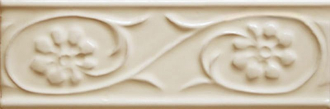 бордюр paris metro petalos crema 5x15 см CEVICA Petalos Crema