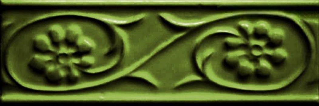 бордюр paris metro petalos verde vic 5x15 см CEVICA Petalos Verde Vic