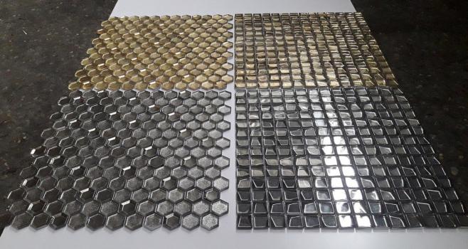 Мозаика titanio trapezio 20x20x6 мм (лист 30,6 х 30,6 см) CARAMELLE
