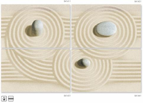 панно summer stone wave 50*80 (из 4-х плиток) Golden Tile