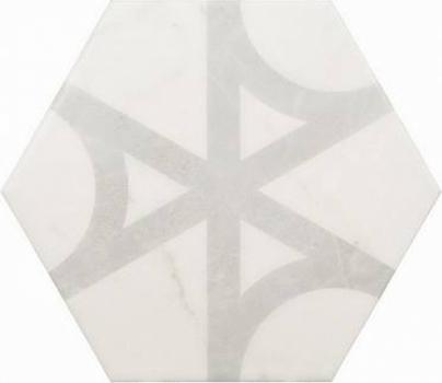 плитка напольная carrara hexagon flow 17,5x20 см EQUIPE 23103