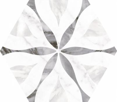 плитка настенная bardiglio hexagon flower  17,5x20 см EQUIPE 23772